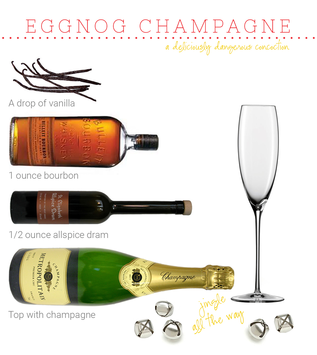 Eggnog Champagne Cocktail | Weeknight Society