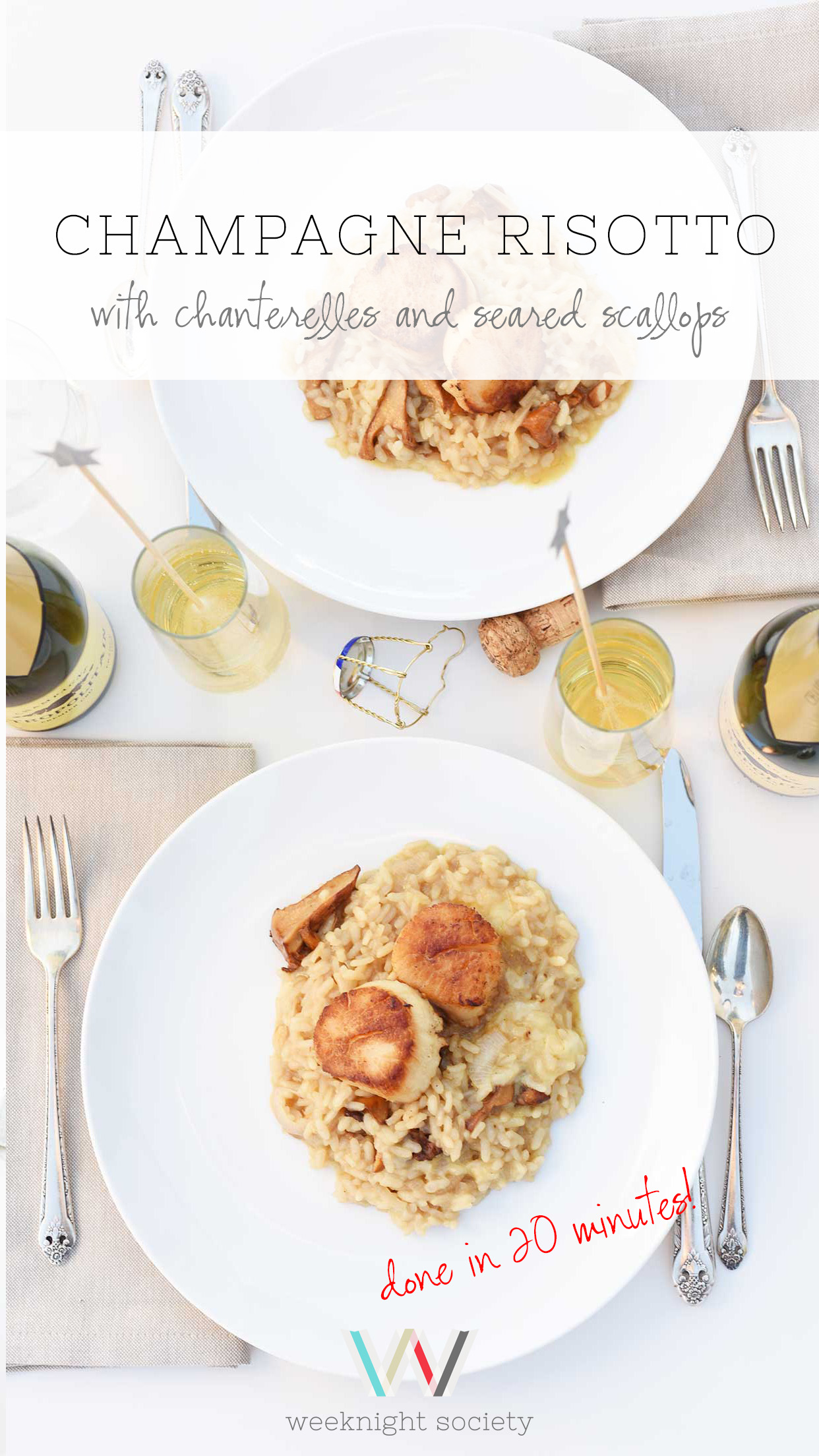 Weeknight Society | Champagne Risotto | cooks in 20 minutes!
