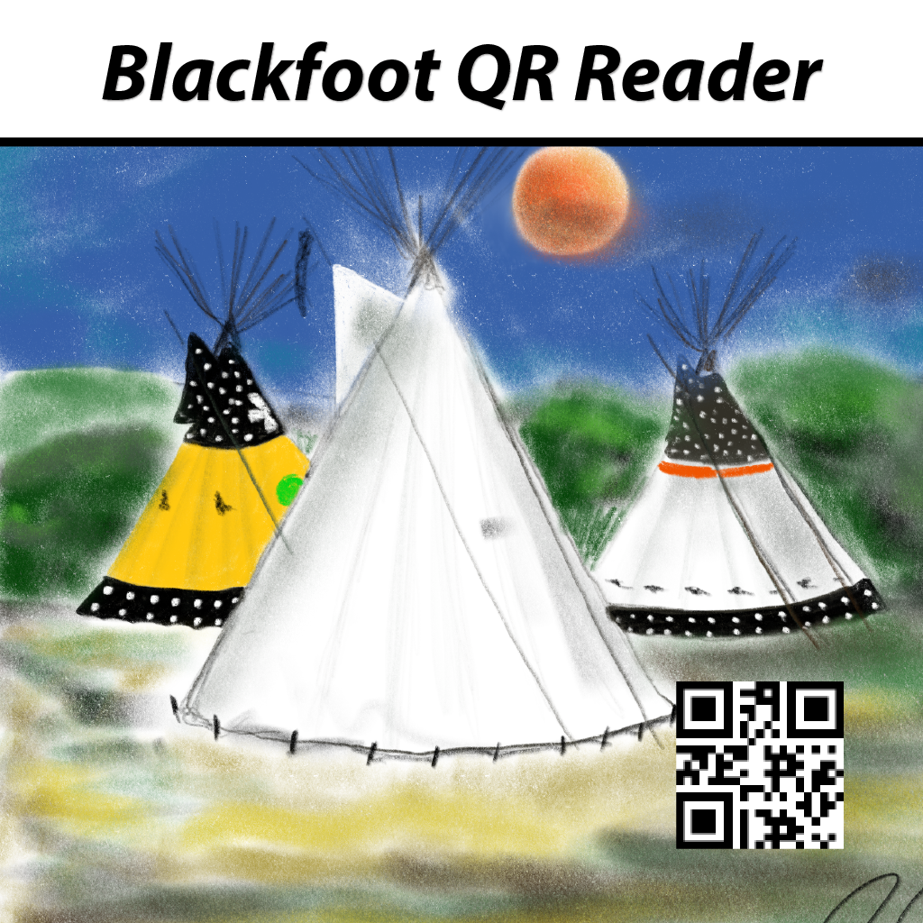 The Blackfoot QR Reader allows you to scan the QR code that is present in all our new generation of Blackfoot games for additional content including audio spoken by a real fluent speaker of Blackfoot.