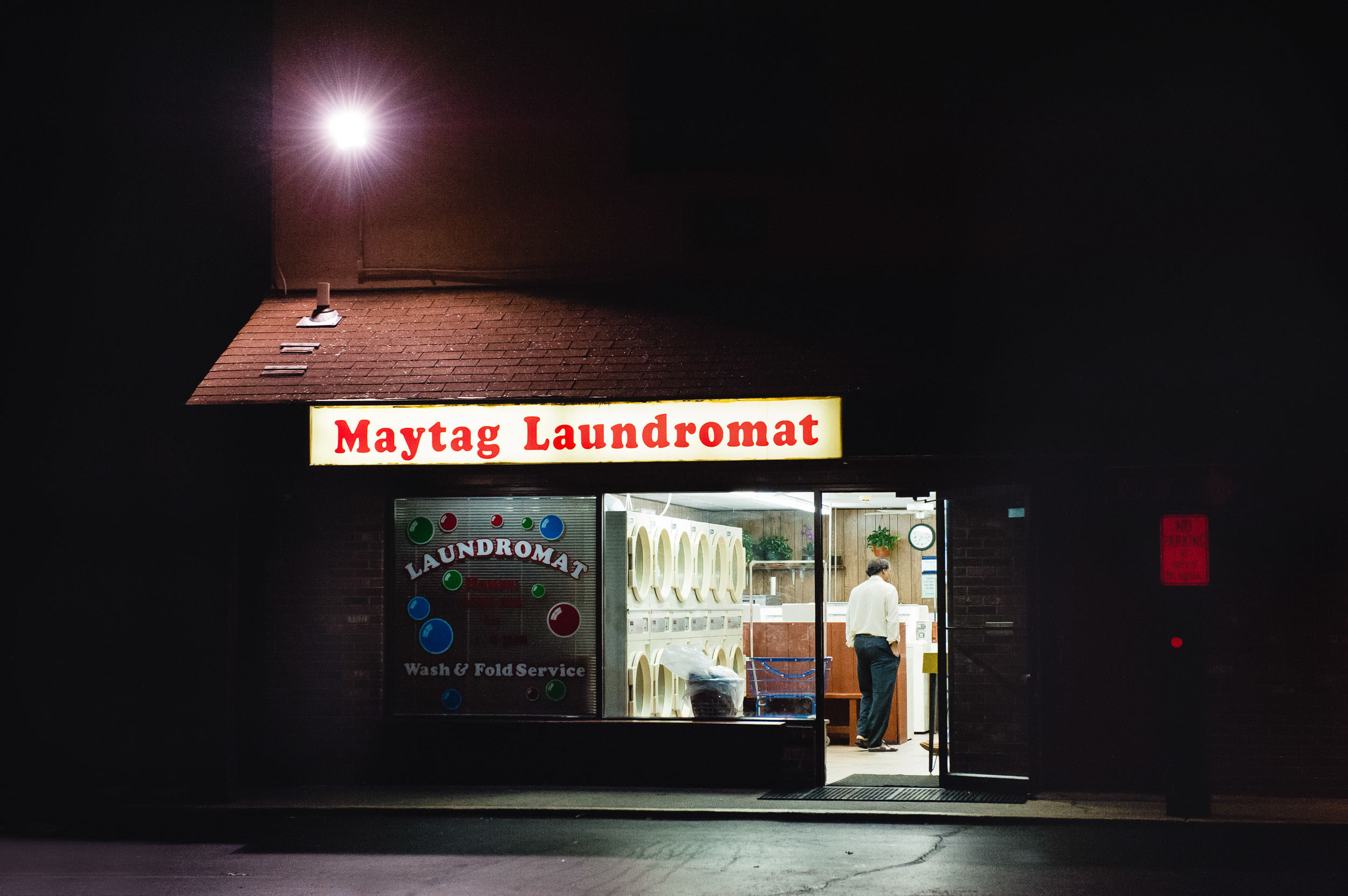 Photo of a Laundromat as part of the Inside Friday Night project
