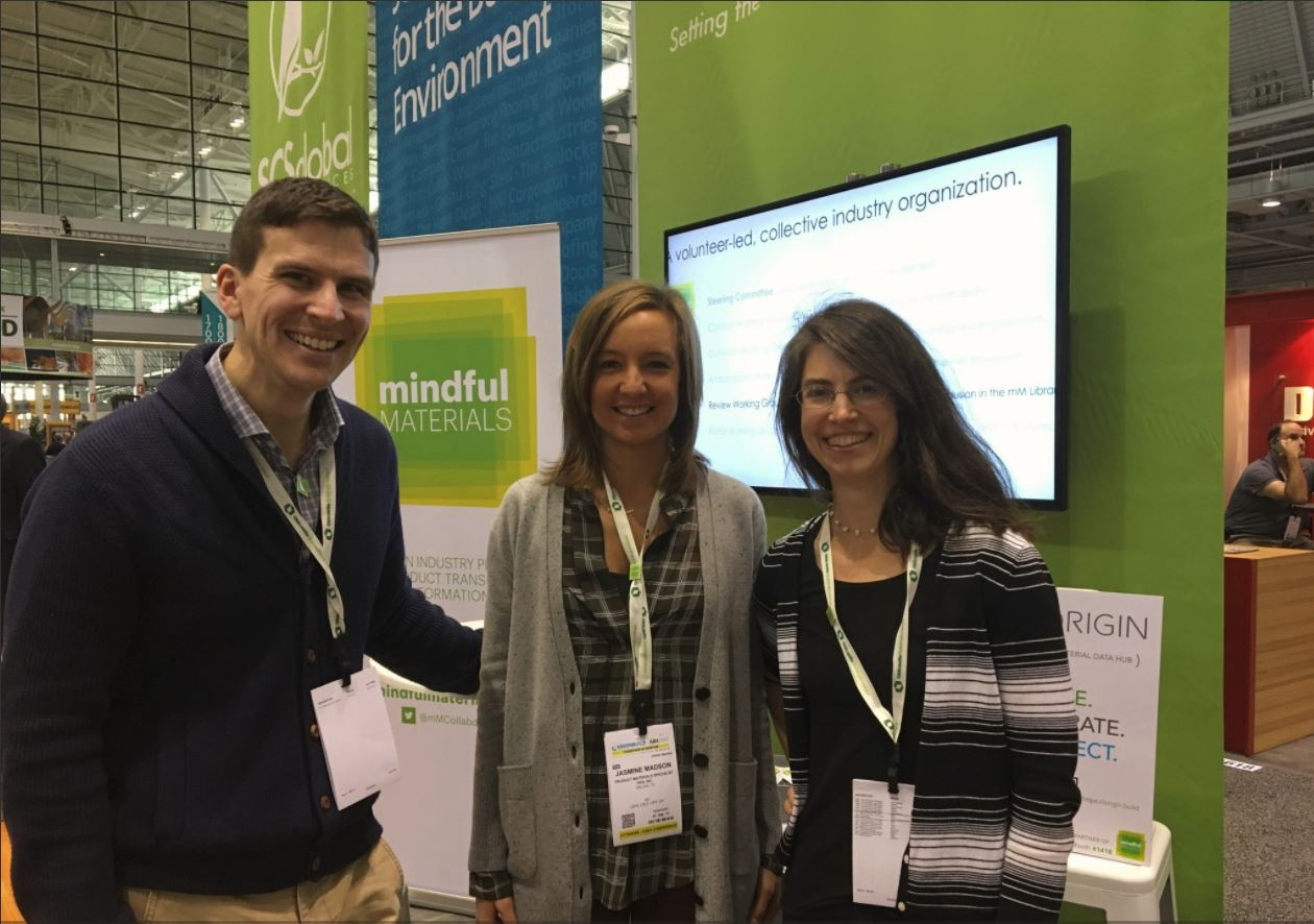 RYAN DICK (GIGA), JASMINE MADSON (HKS), AND JENNIFER ATLEE (PROSOCO) AT GREENBUILD 2017
