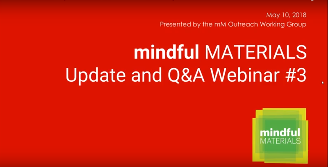learn more about how manufacturers and A+D firms are using mindful materials!