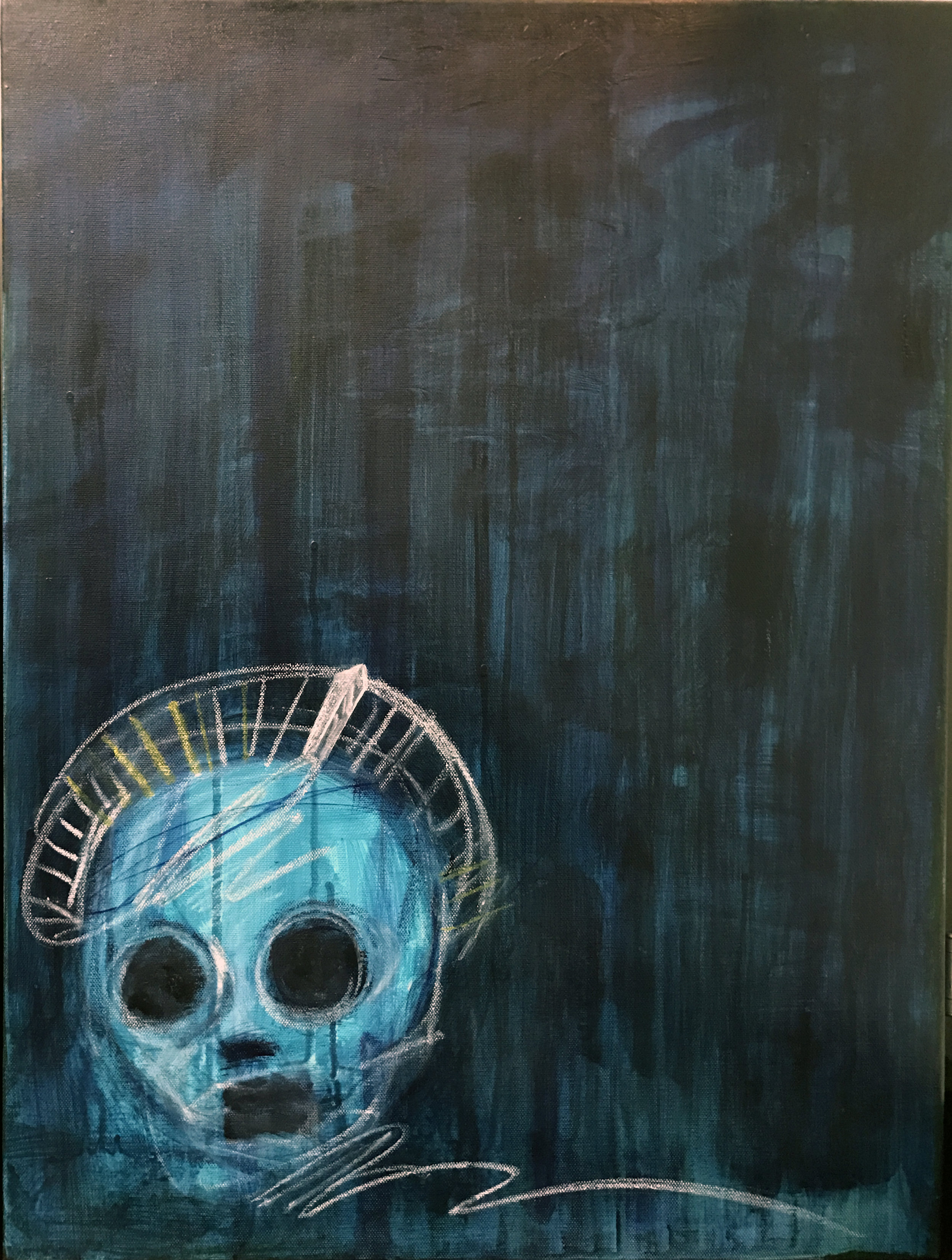 """First Runner Up 2017 18"""" x 24"""" Oil, Acrylic, Graphite, Pastel on Canvas"""