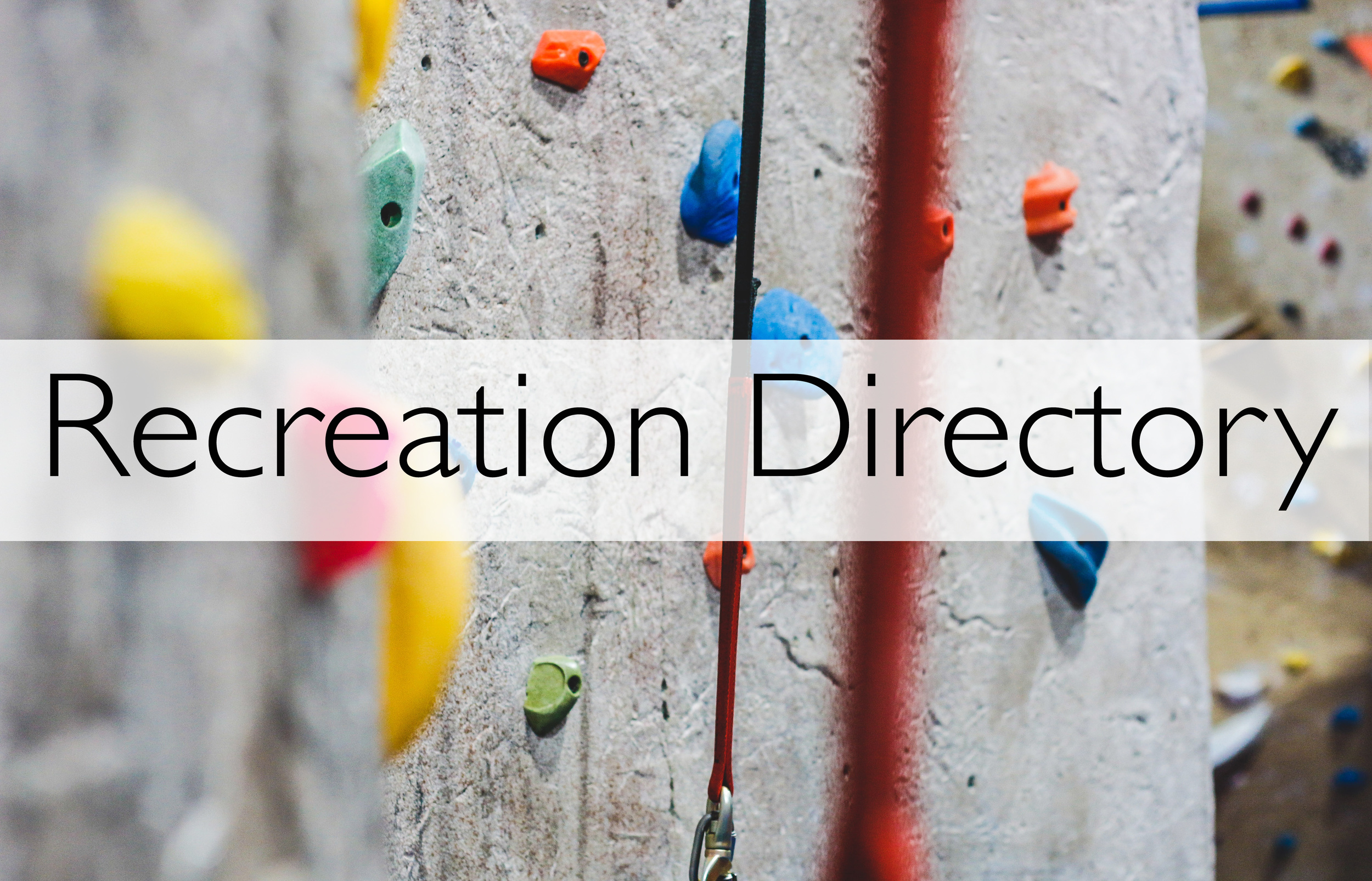 Click for our recreation directory