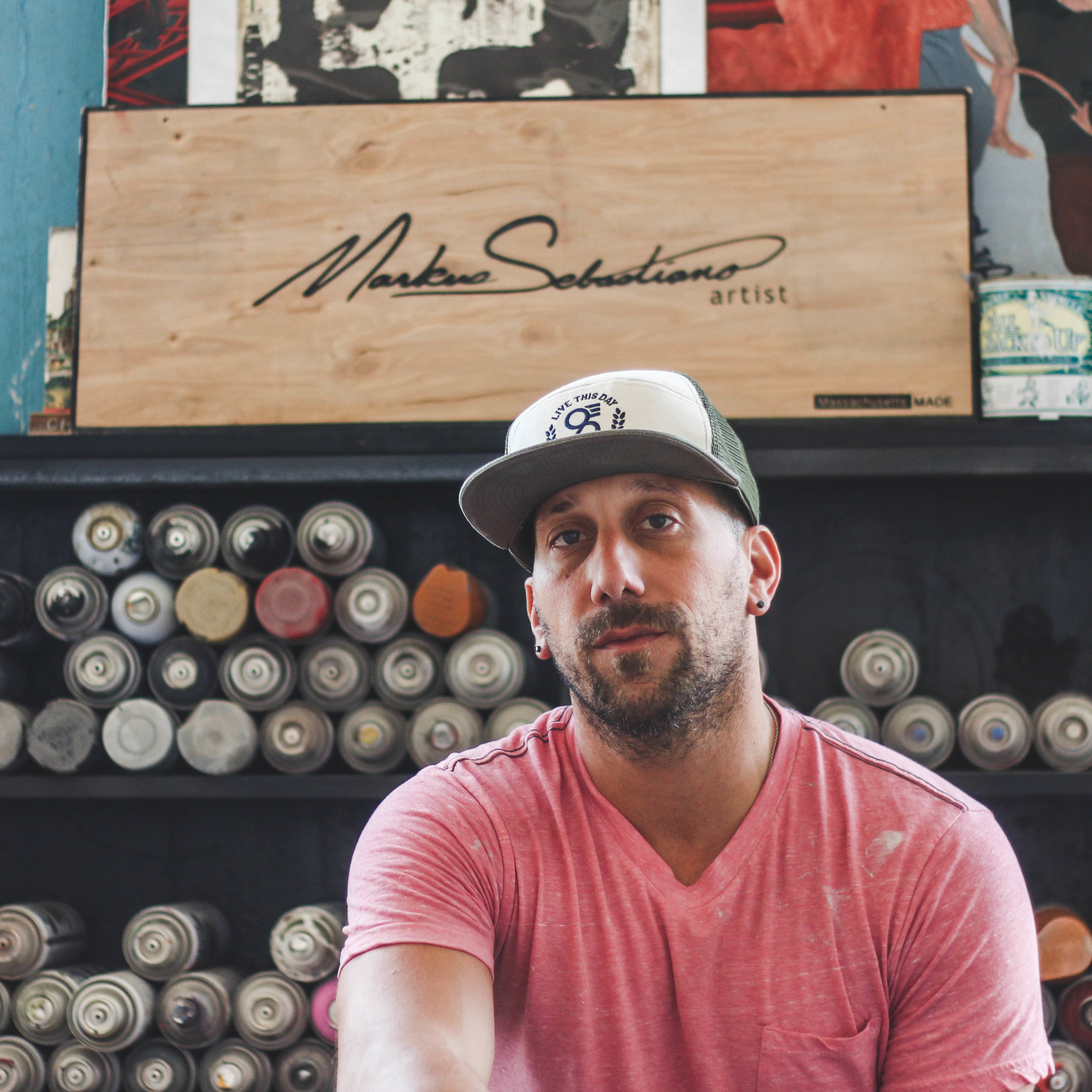 Markus sebastiano talkes about growing up in the area and what inspires his large scale, multi media work