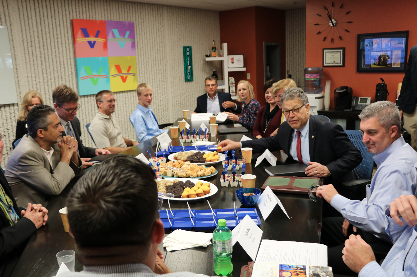 Senators Al Franken and Tammy Baldwin sit down with ambassadors from Minnesota and Wisconsin to discuss the workforce gap in manufacturing.