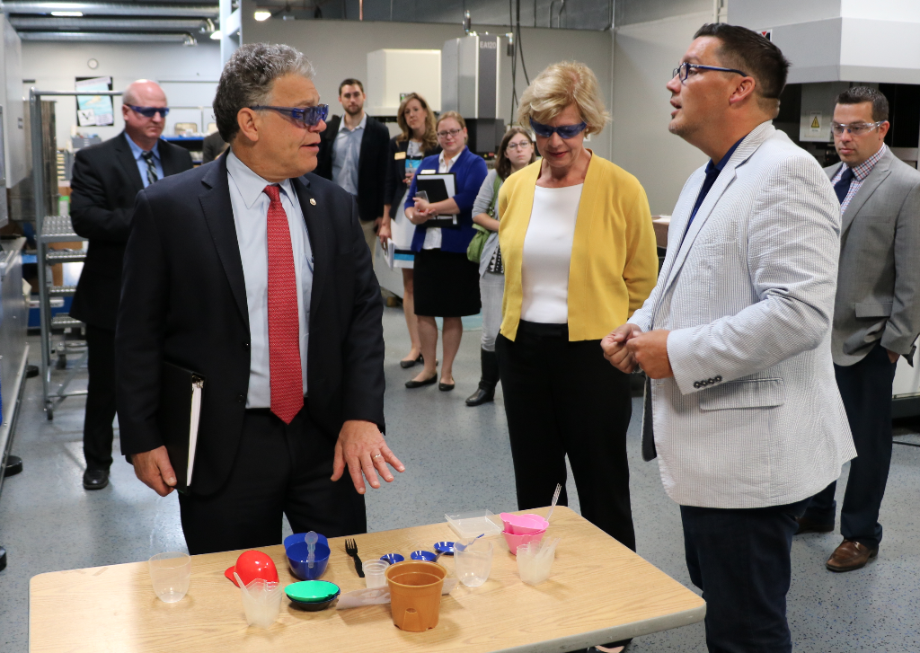 The Senators learn about our new sustainable line of products: SelfEco