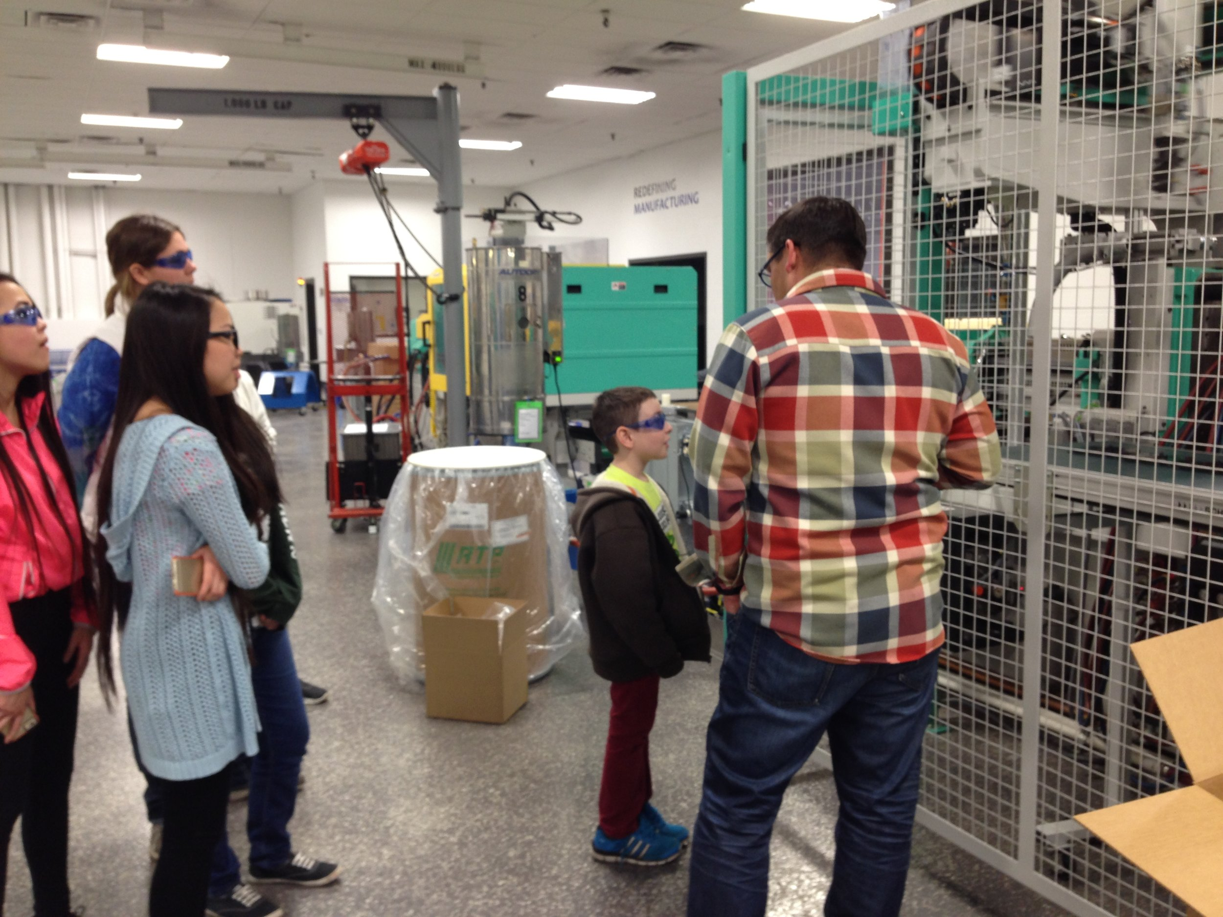 Giving tours to our future generation of manufacturers! #OpenDoorPolicy
