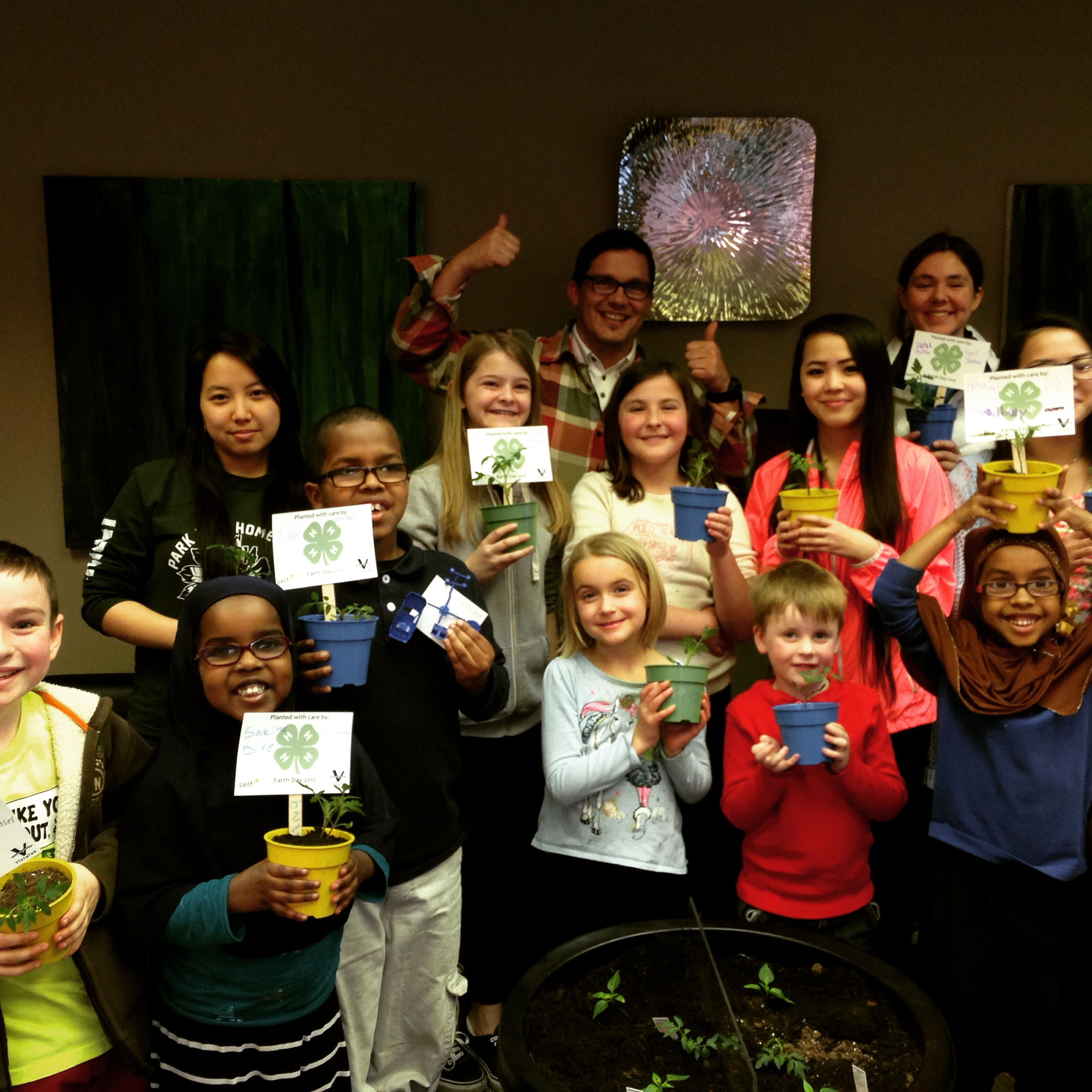 Planting seeds with the local 4-H Club