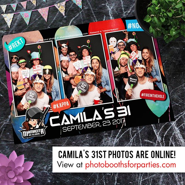 Camila's 31st Birthday photos are online! Click our profile page to get link or enter www.photoboothsforparties.com in your browser. #photoboothsforparties #photobooths4parties #photobooth #photoboothla #photoboothoc #bestphotobooth #photoboothprints #laphotobooth #laphotoboothrentals #orangecountyphotobooth #weddingphotobooth
