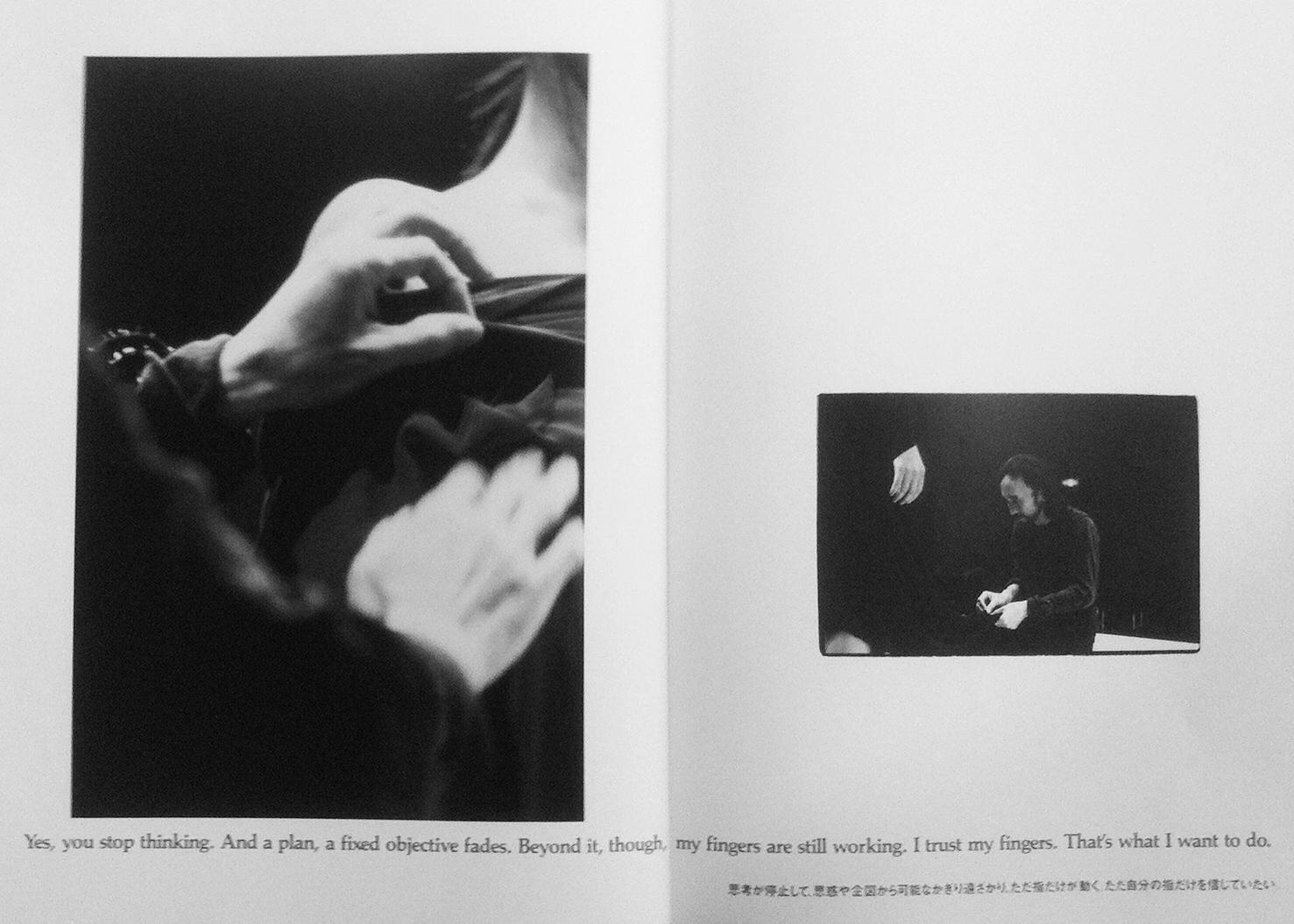Yohji Yamamoto AW '91-'92 catalogue. Words, Yohji Yamamoto. Copyright, Yohji Yamamoto.Catalog is held in the Fashion Museum of the Province of Antwerp (MoMu) Archive. Images courtesy MoMu.
