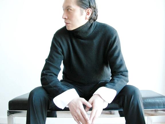 David ever stylish in black.