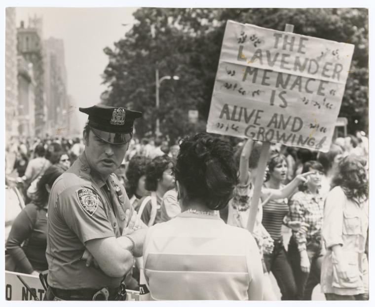 Women's Liberation Rally, Rittenhouse Square, Philadelphia, circa 1972. Image courtesy the New York Public Library Digital Archives and Manuscripts. The reuse of this image has been permitted by the library's efforts to release more of its collections into the public domain.