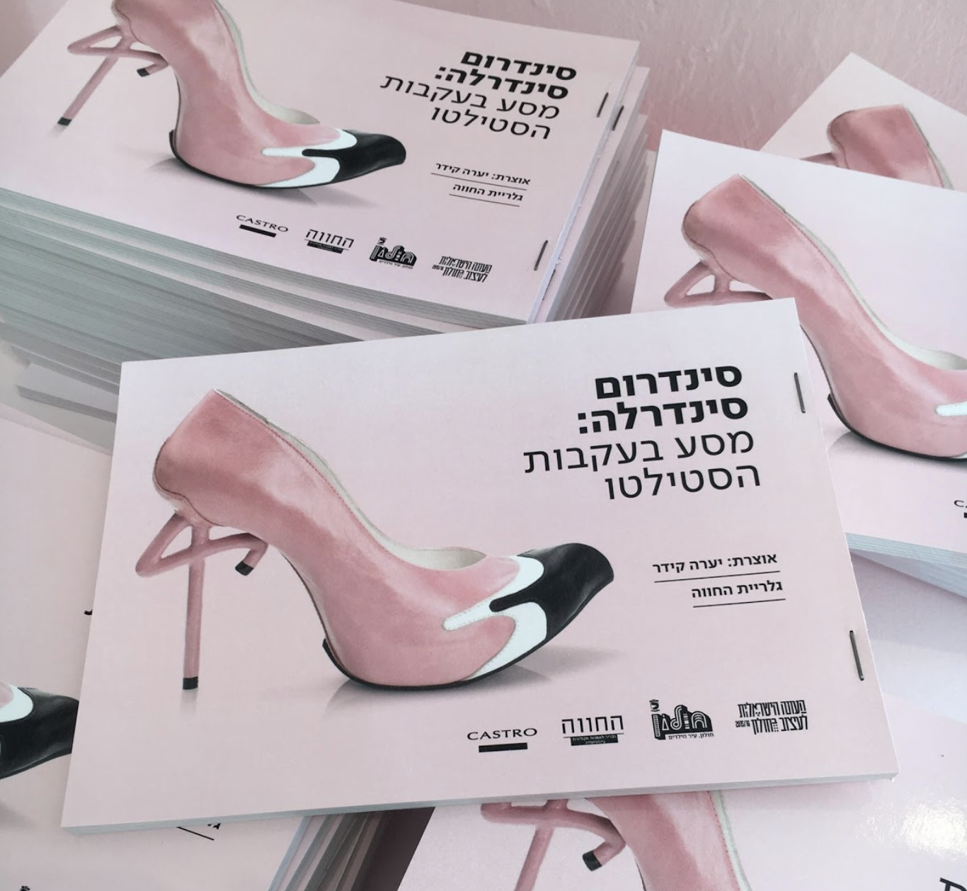 "Exhibition Catalogues. On the cover: ""Flamingo Shoe"" by Kobi Levi."