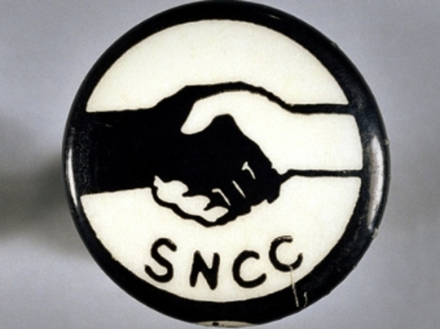 Fig. 4. Student Nonviolent Coordinating Committee Button, circa, 1964. Image courtesy of the author.