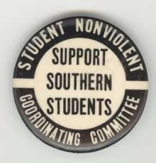 Fig. 5. Student Nonviolent Coordinating Committee Button, circa, 1964. Image courtesy of the author.