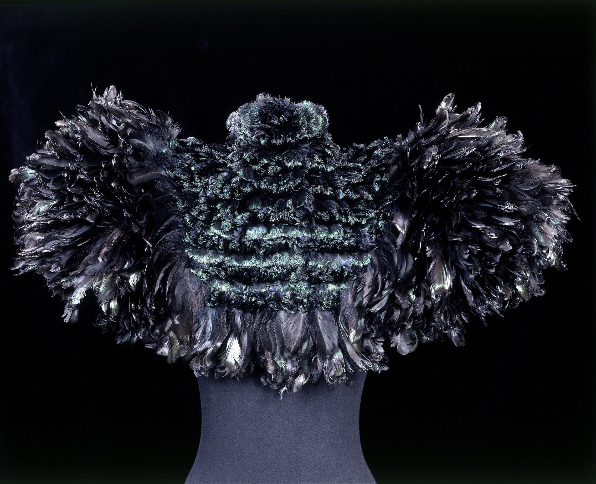 Cape of curled cockerel feathers, Auguste Champot, France, ca. 1895 © Victoria and Albert Museum, London. Photo courtesy Victoria and Albert Museum Press Office.