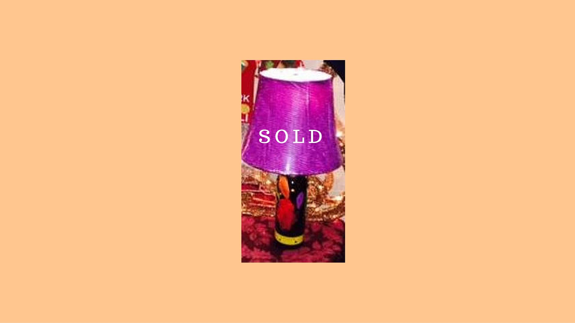 Wine Lamp Meeker Merlot $75 - SOLD