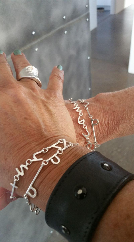 custom - poetry into bracelets!
