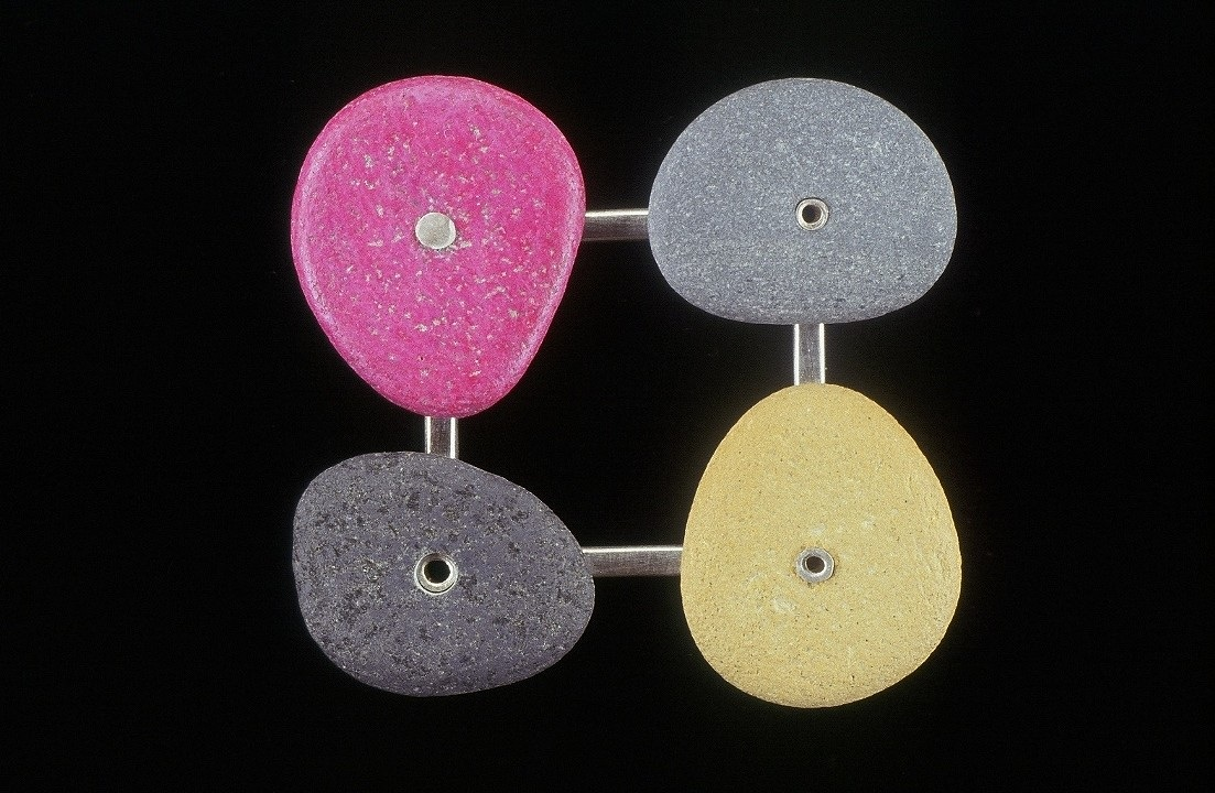circles in a square/pink yellow