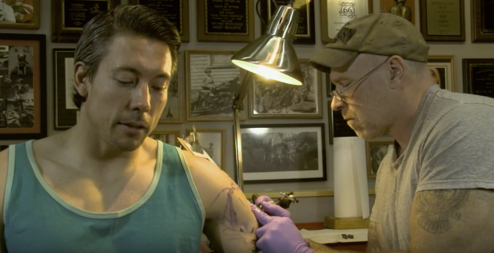 Detroit PBS segment with the highly-accomplished Tom Renshaw.  The start of my sleeve to honor my warrior father and tribe.  -