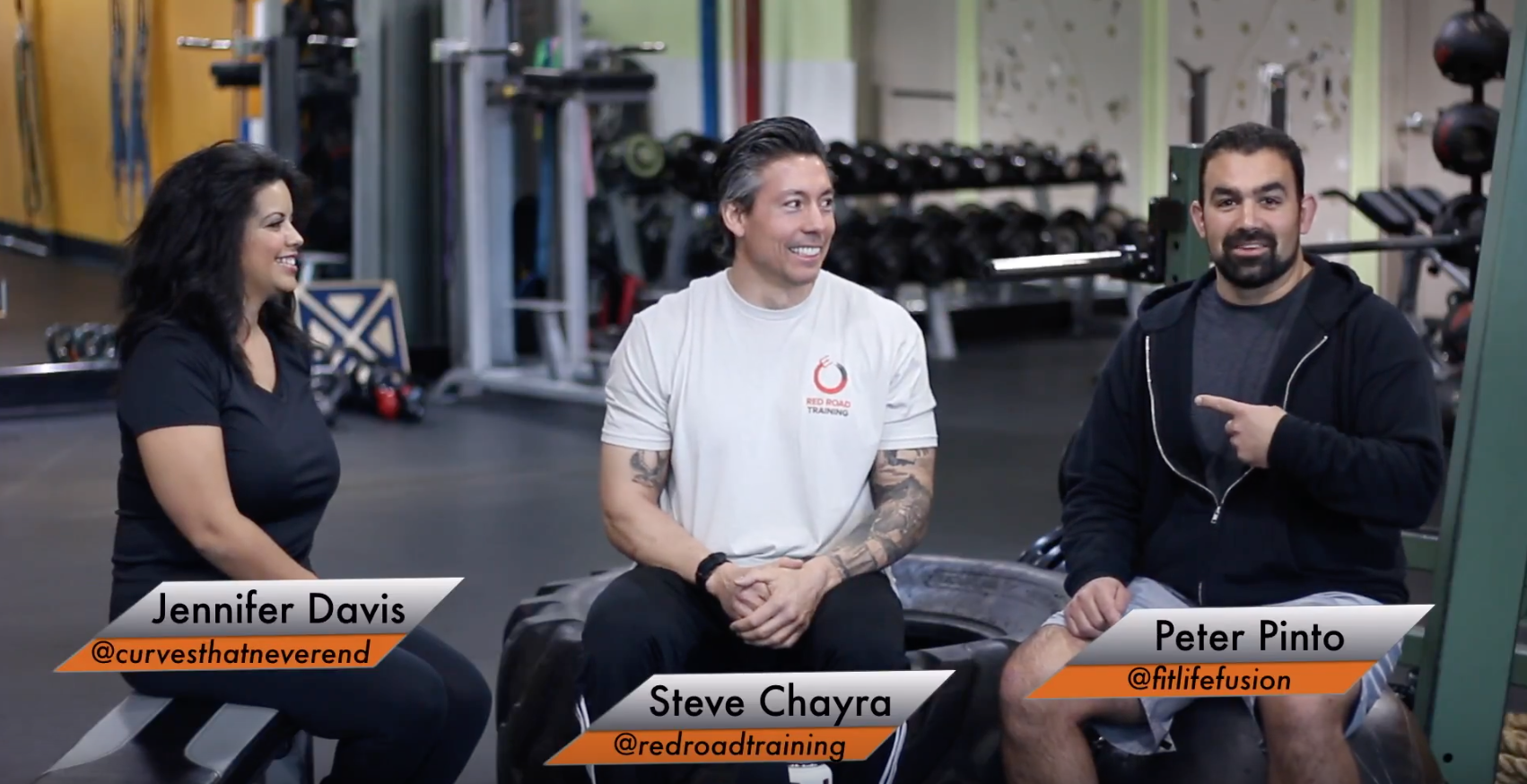 Discussing fitness philosophies with fellow Las Vegas fitness professionals.  -