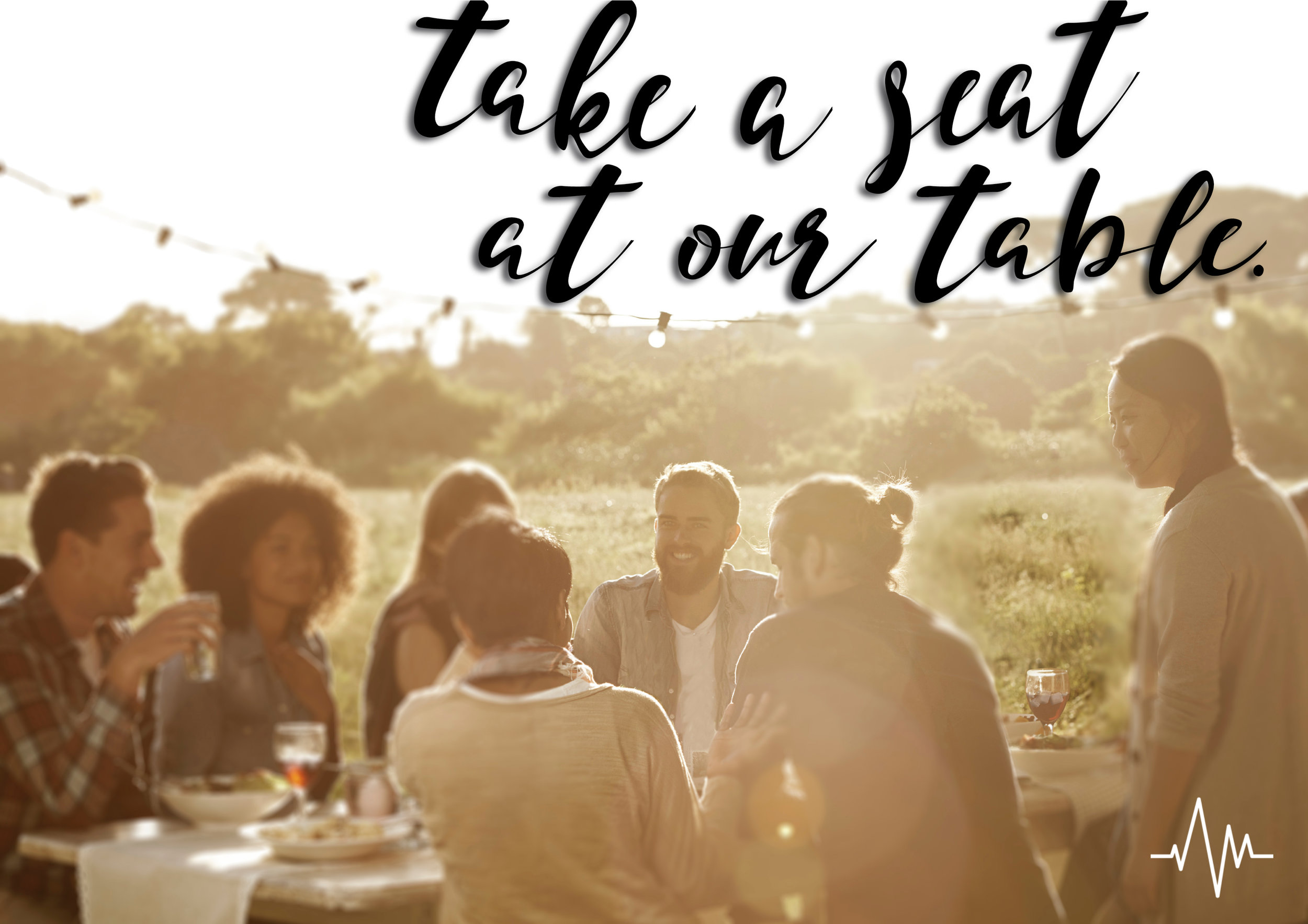 "Our Fall Sermon Series is called ""Take A Seat At our Table""  join us as we talk about Doing Life Together"