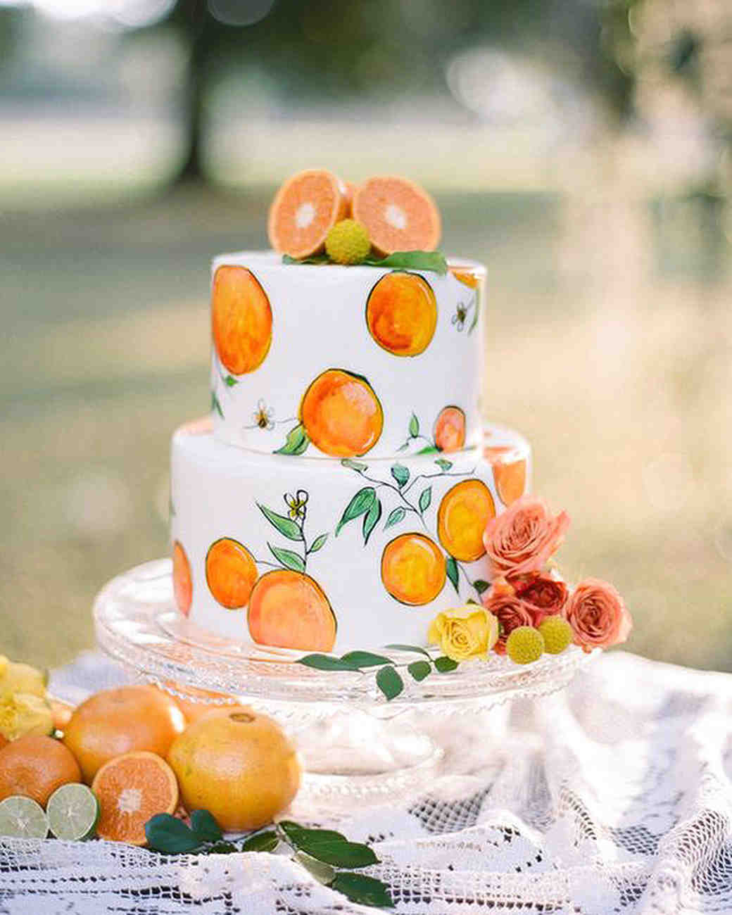 Martha Stewart Trending Hand Painted Cakes