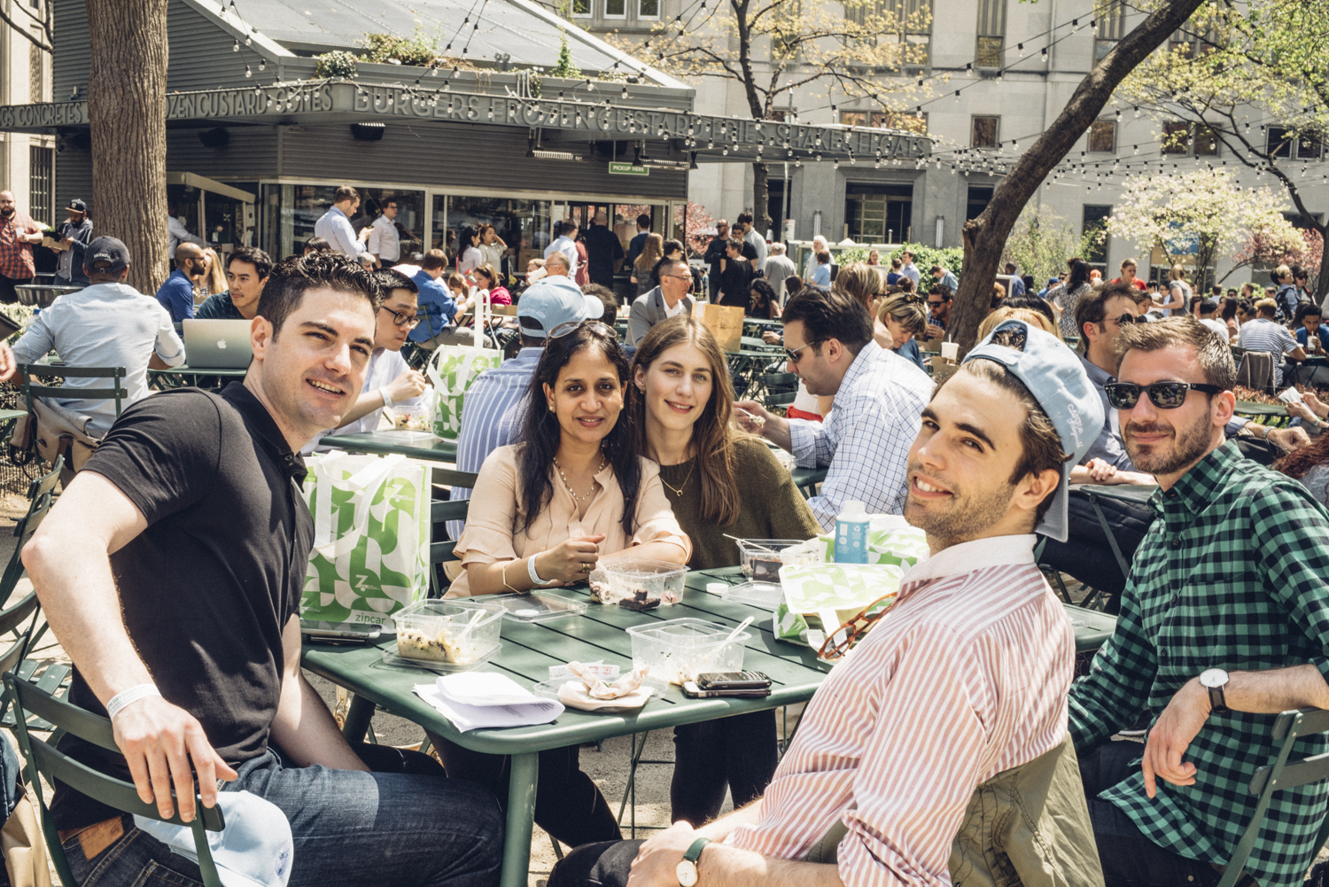 Earth Day New York 2016 ends with lunch in Madison Square Park.