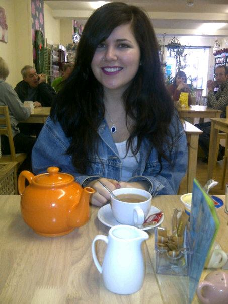 Enjoying a cozy cafe in the adorable town of Otley in Yorkshire.