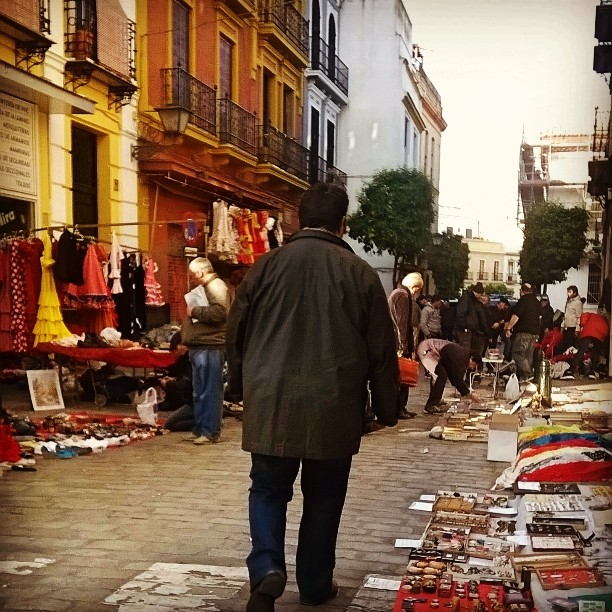 The weekly flea market in my former neighborhood in Seville, Spain.