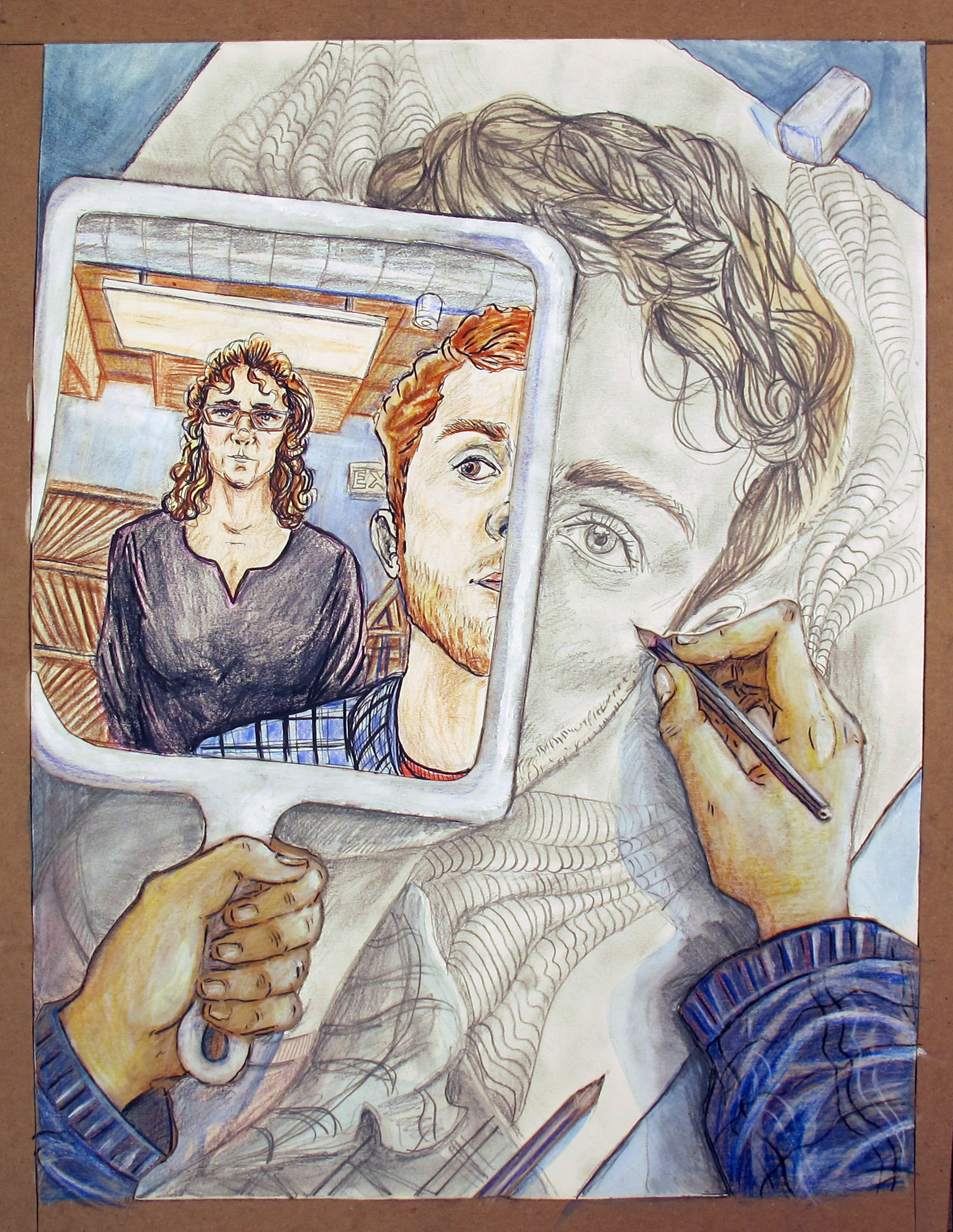 Zack Martin, Self Portrait with Terri in the mirror
