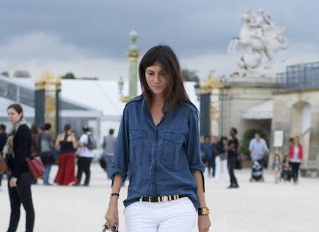 the boyfriend denim shirt  - girlsguidetoparis.com, 2012
