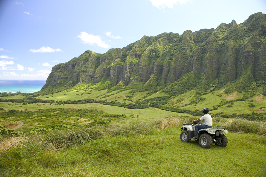 ATV in the breathtaking island valleys