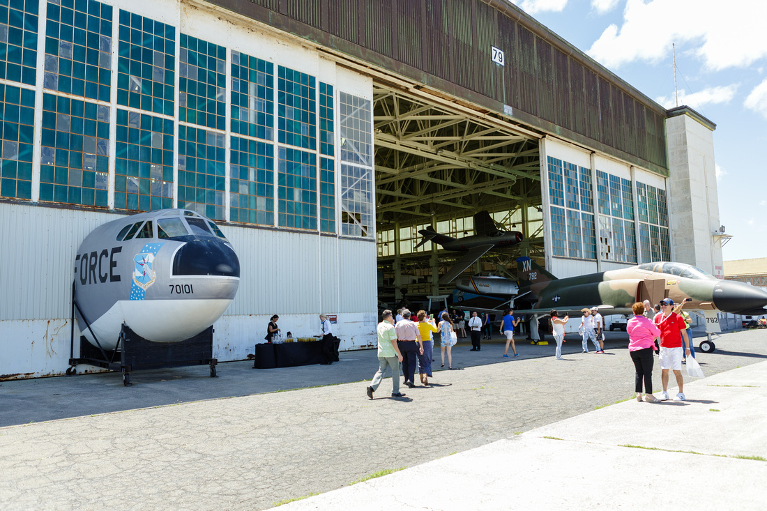Island Events privatized the large museum hanger exclusively for our international guests for the luncheon.