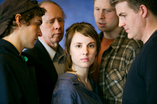 Lee Blessing's   For The Loyal  with Michael Fell , Mark Rosenwinkel, Anna Sundberg, Sam Bardwell and Garry Geiken.After its 2015 premiere production at Illusion it was published by Dramatist's Play Service .