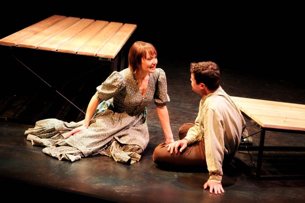Katie Guentzel and John Catron in My Antonia