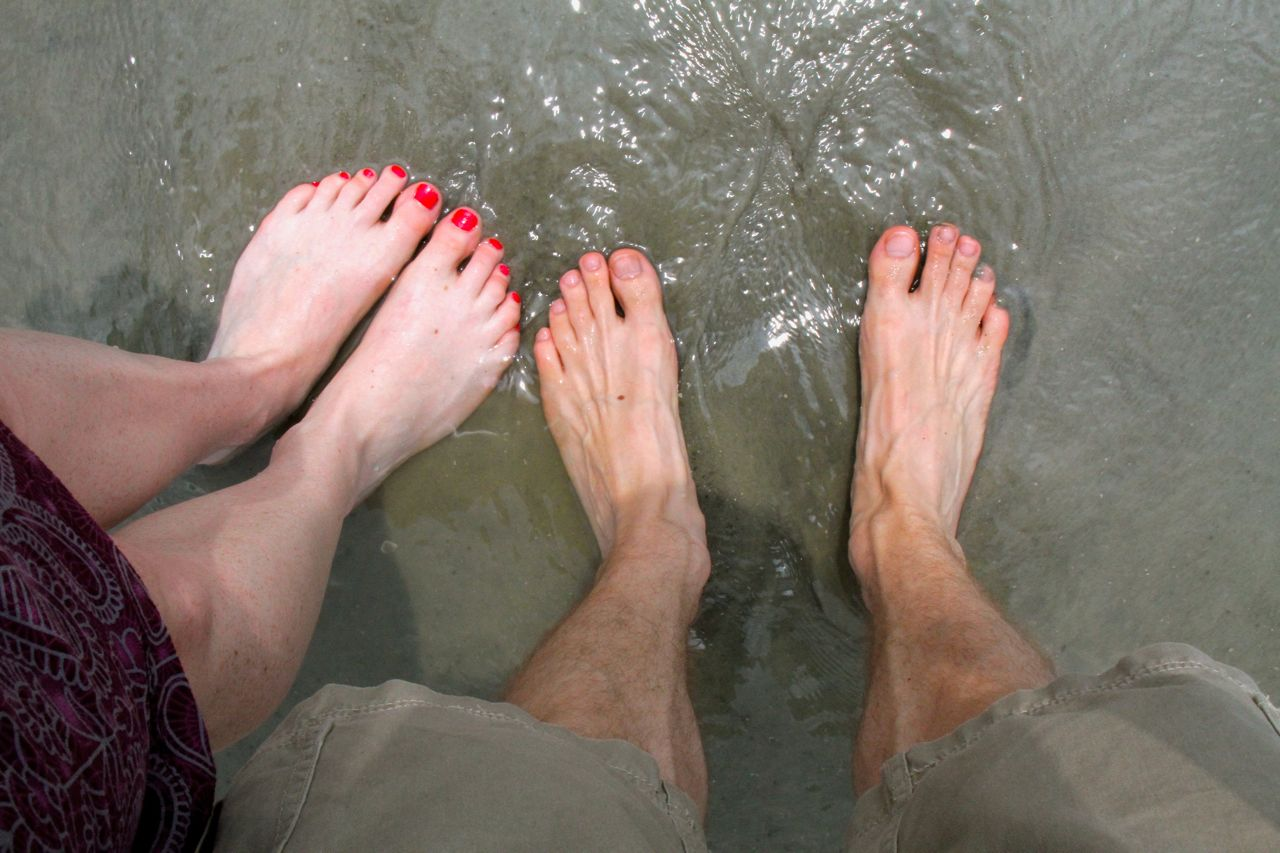 Feet in the Atlantic. Water was balmy.
