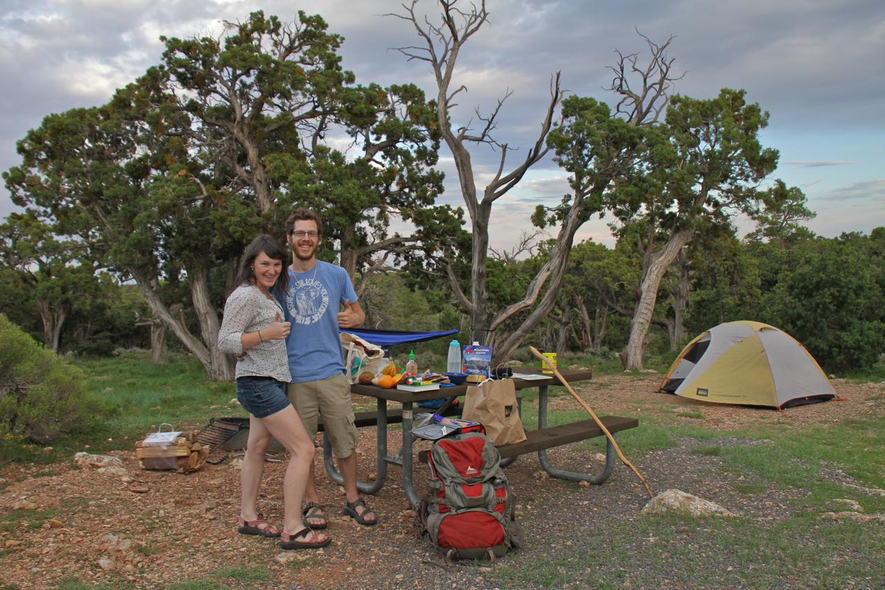 Grand Canyon campsite