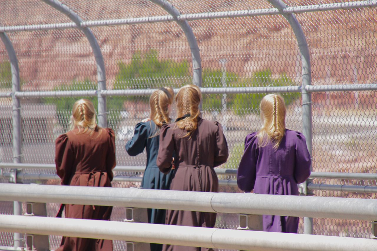 Sister wives, a sight almost as interesting as the dam