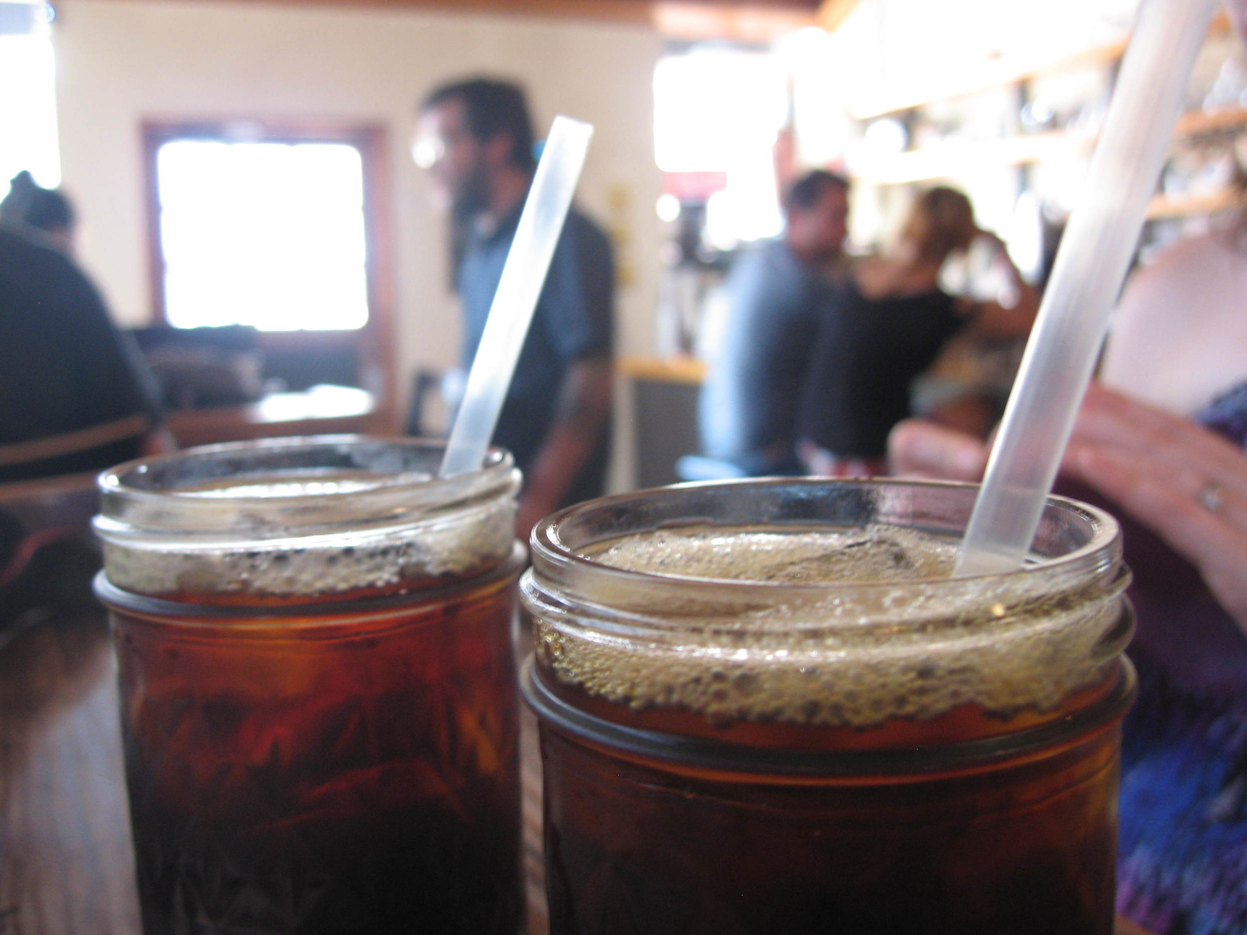 Iced coffees at Frank's
