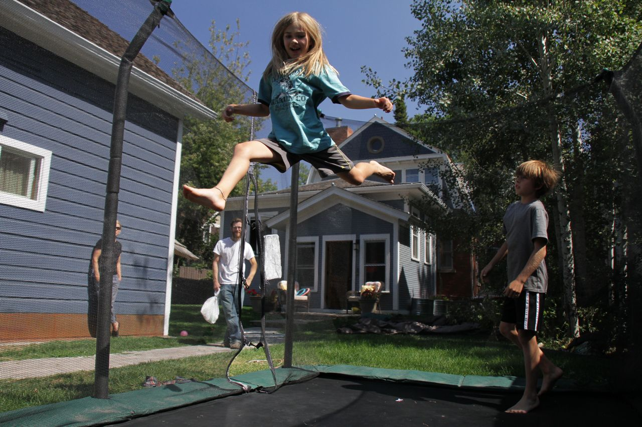 Fun on the trampoline