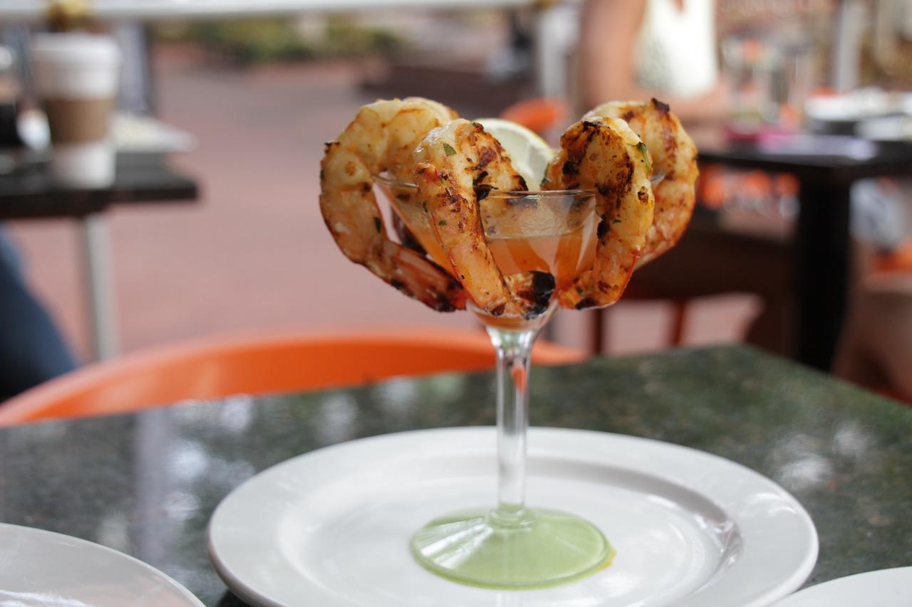 Grilled shrimp at Hapa Sushi