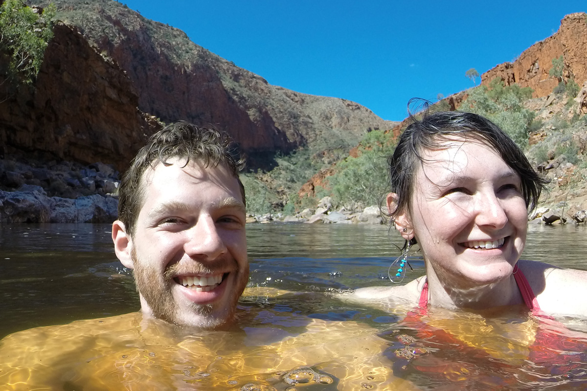 swimming in the west macdonnell ranges