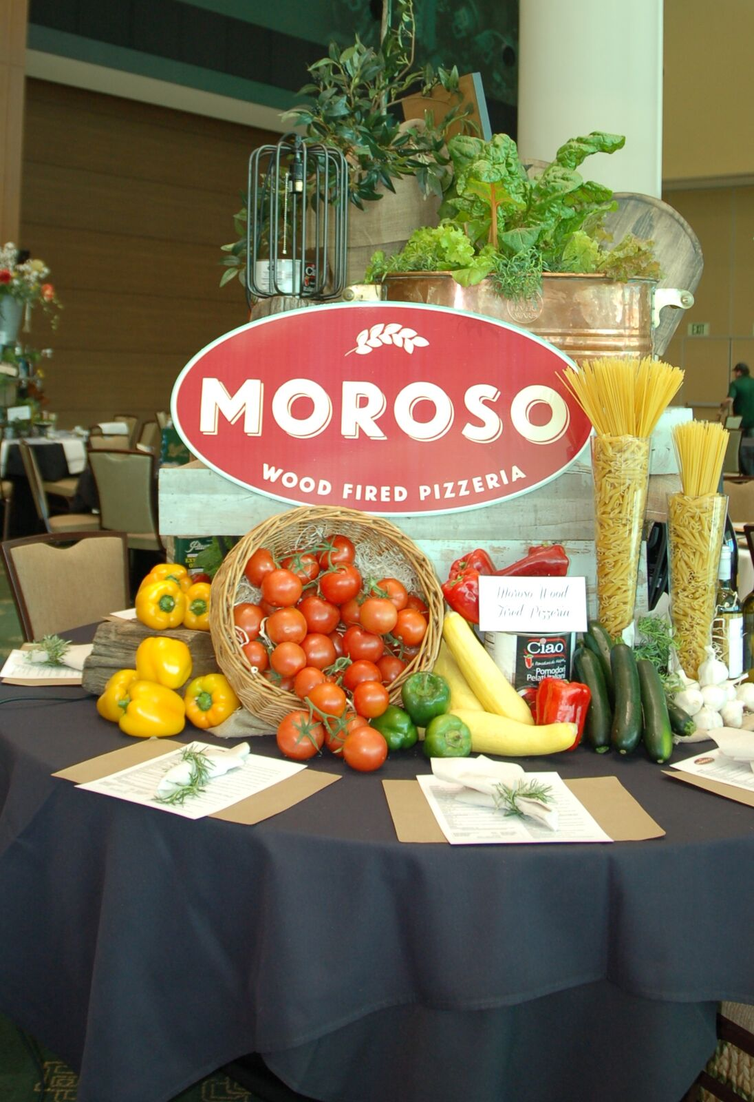 Moroso's colorful table from Table Toppers 2017!