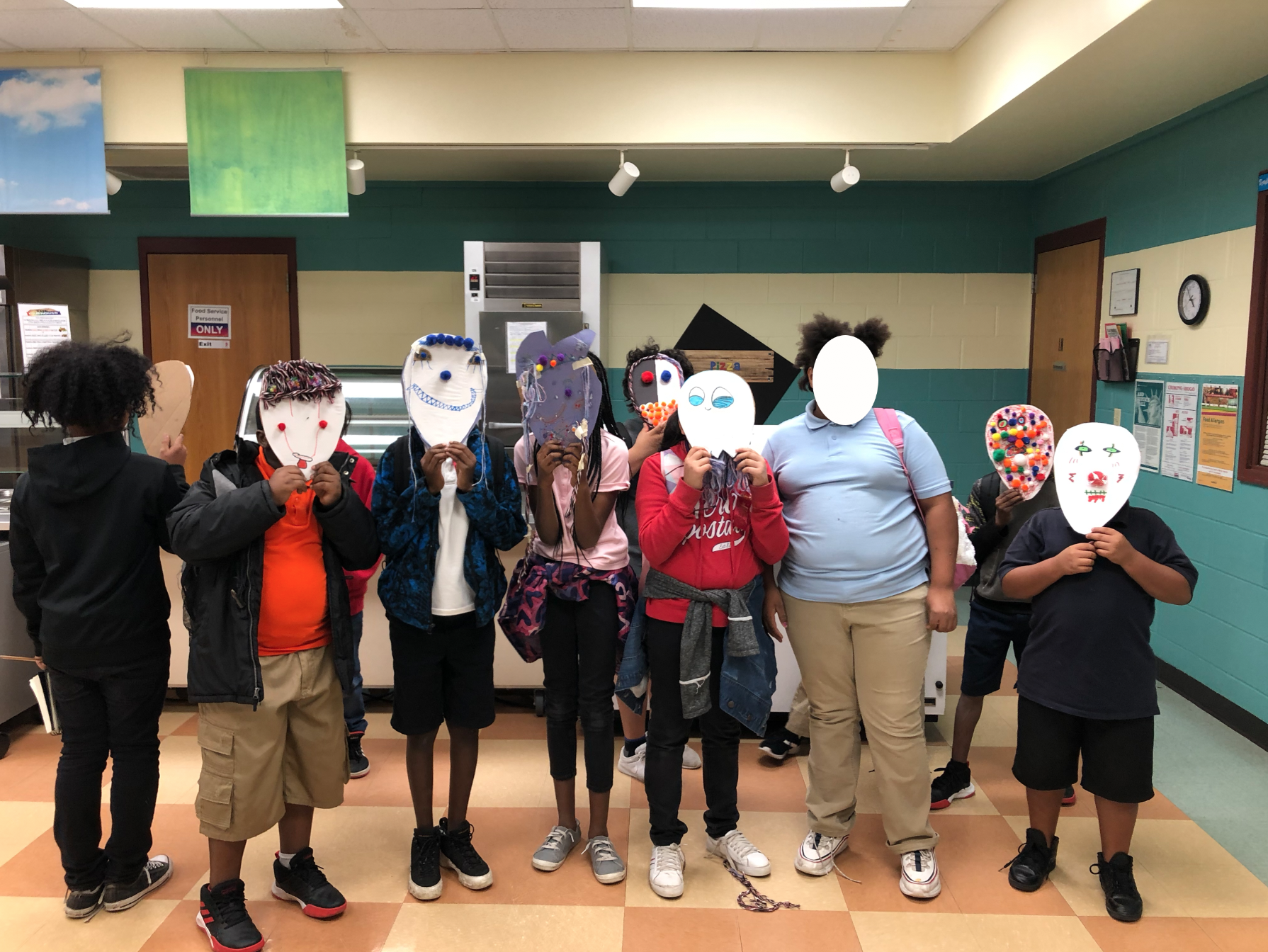 Masks made by 4th & 5th Graders