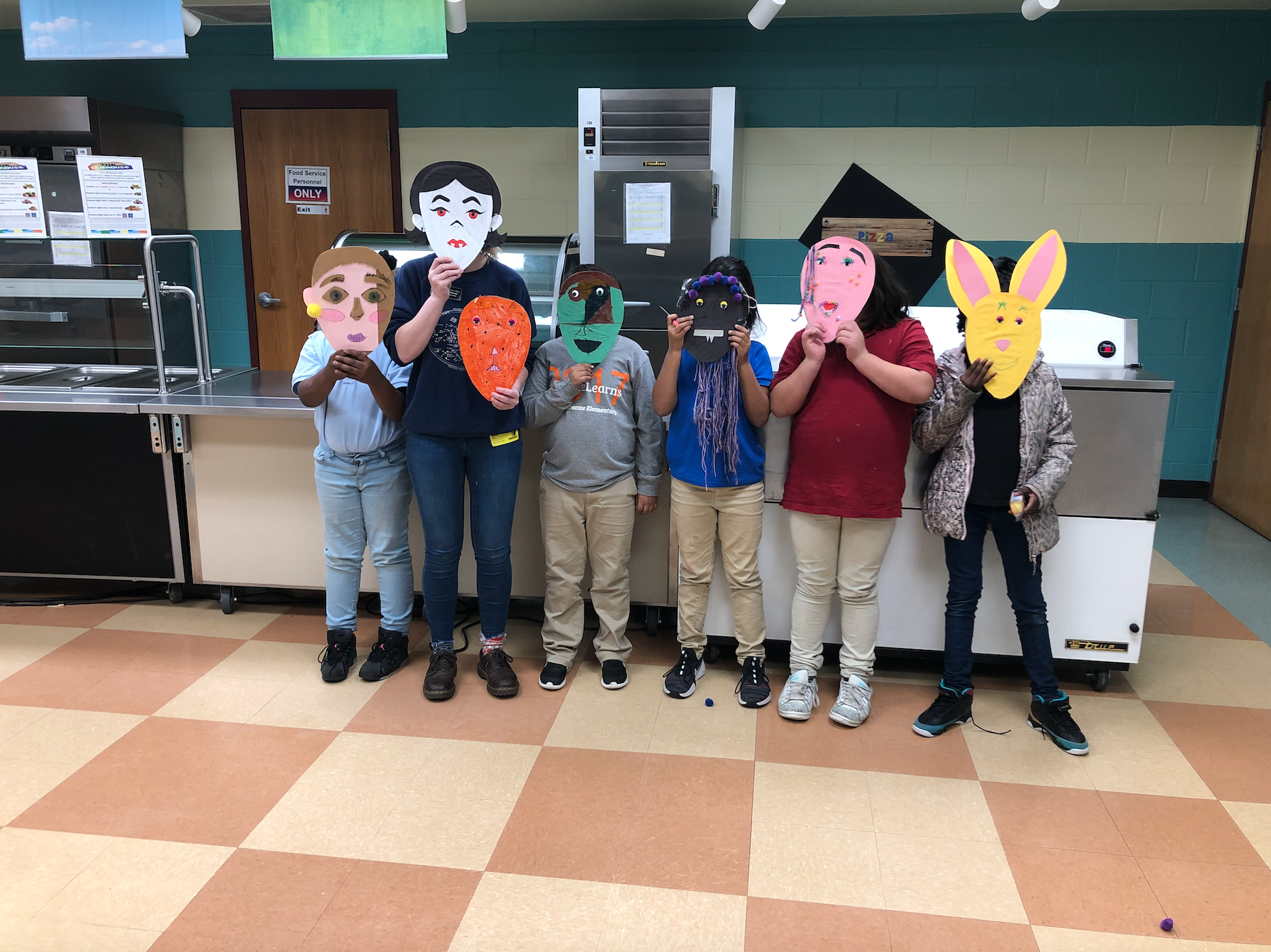 Masks made by 3rd graders
