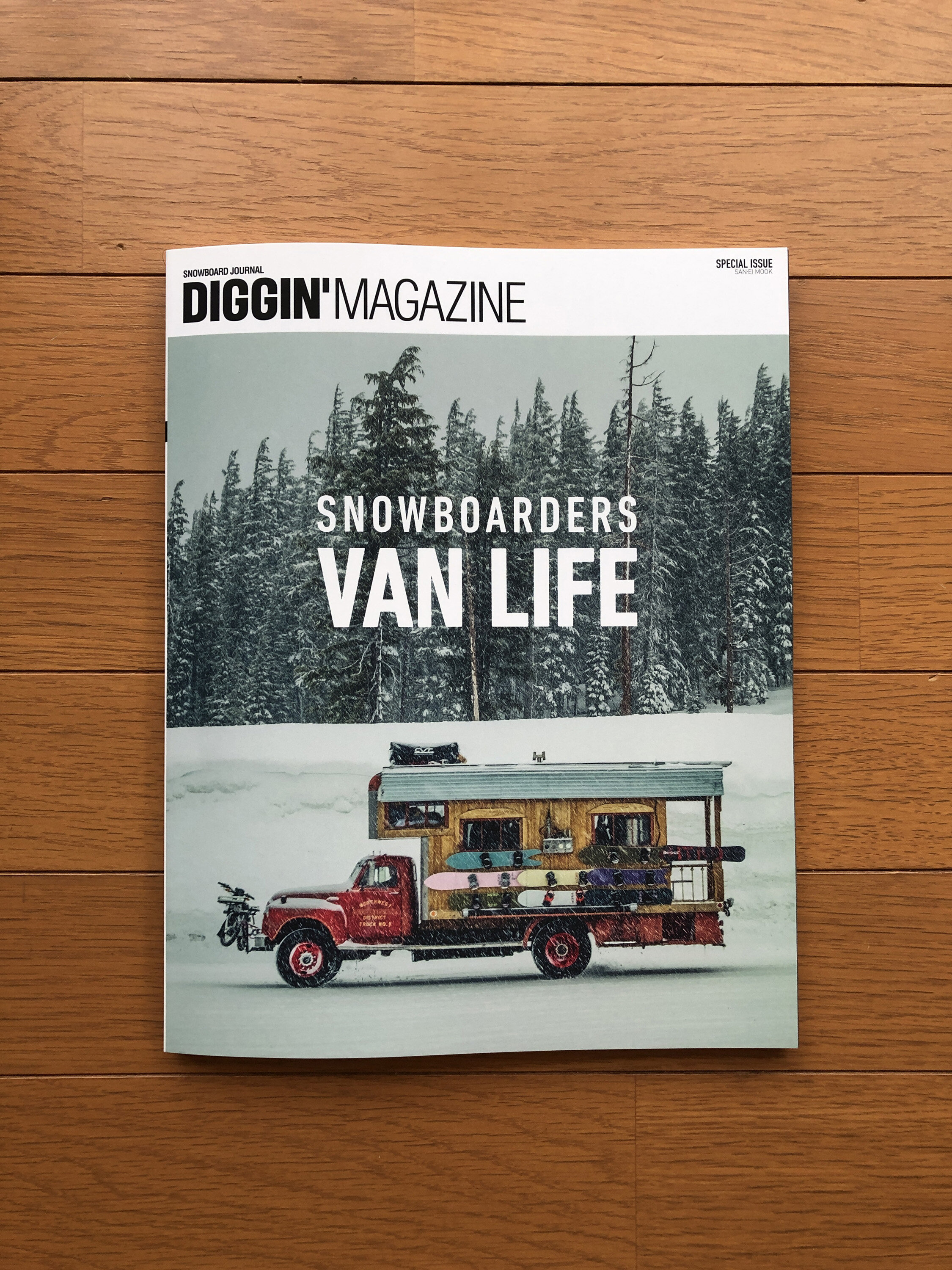 Digging Magazine , one of the most important Japanese snowboard magazines has published an article about us and our campervan adventures.