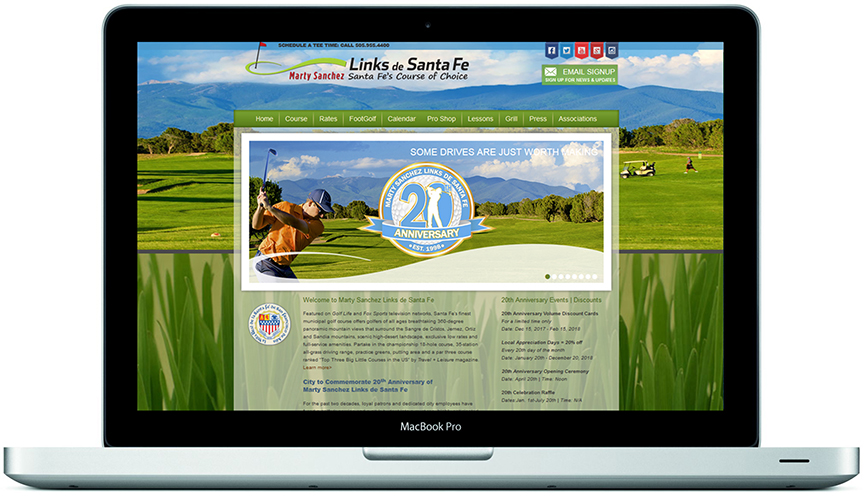 20th Anniversary-Marty Sanchez Links de Santa Fe Website