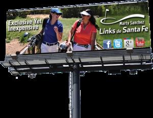 Golf Billboard - (C) Marty Sanchez Links de Santa Fe